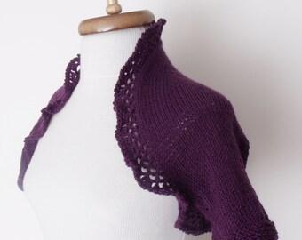 Purple Wedding Bridal Shrug - Ready for shipping