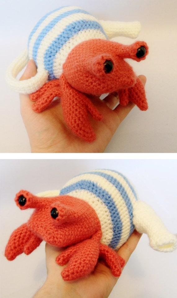 Amigurumi Crochet Teapot Pattern : Teapot Crab - Hermit Crab in a Teapot, Amigurumi Crochet ...