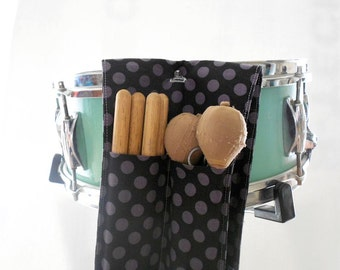 Drum Stick Bag - Black Ta Dot - drum stick holder music gear drum gear