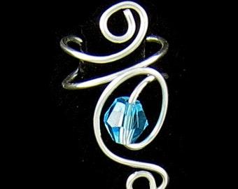 Crystal Swirl Ear Cuff
