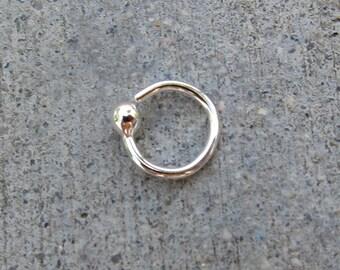 Sterling Silver Tiny Loop Earring