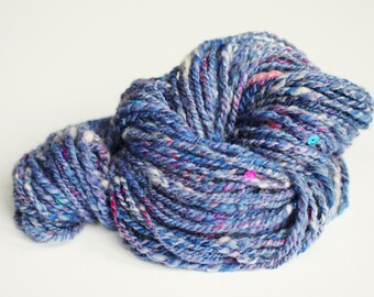 Handspun art yarn 'Fairy Frost'