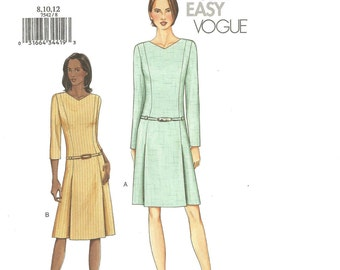 Vogue 7542 Dress 8 10 12 2002 FF