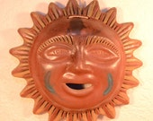 Large Ceramic Wall Decor Sun Mexican Pottery
