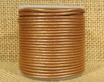 1.5mm Round Indian Leather - Light Rust Metallic - L1.5-240