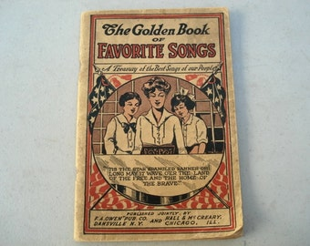Favorite Songs Book 1915 Songs Of Our People Vintage Song Book Star Spangle Banner, Old Time Song Book, Americana, Historical Songs,Pamphlet