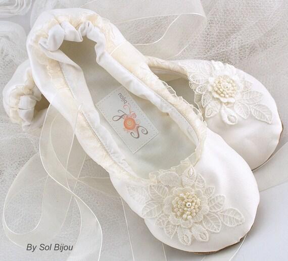 Ivory Ballet Flats Wedding Flats Ballet Slippers Wedding