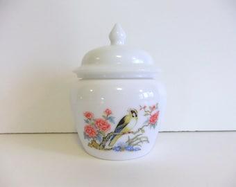 Vintage Jar with Lid, Avon covered jar