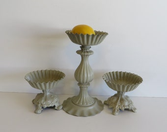 Vintage Candle Holders repurposed