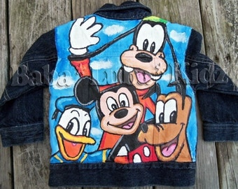 Boys or girls Boutique custom painted jacket 12 18 24 2 3 4 5 6 7 8 9 10 11 12 14