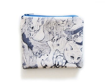 Zipper Pouch - Magical Land of Animals - Available in Small / Large / Long