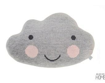 Knit Cloud Pillow :) LIGHT GREY