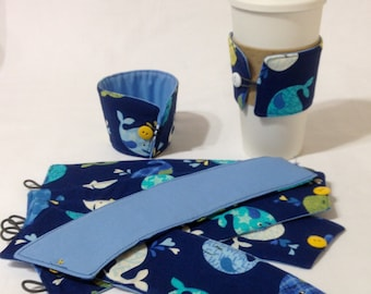 SALE!*!*!*! - Blue Whale Coffee Cozie - *!*!*! 2 for 1 Mix and Match