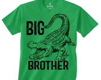 BIG BROTHER ALLIGATOR -- Kids T shirt -- Size 2t, 3t, 4t, youth xs, yth sm, yth med, yth lg skip n whistle