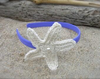 Starfish Headband-MERMAID PURPLE-Mermaid Hair, Halloween, Beach Weddings, Mermaids, Toddler Hair Photo Prop, Girls Halloween