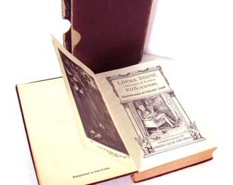 LORNA Doone By R. D. Blackmore Boxed Edition, Antique book, Victorian Book, Wine Home Decor