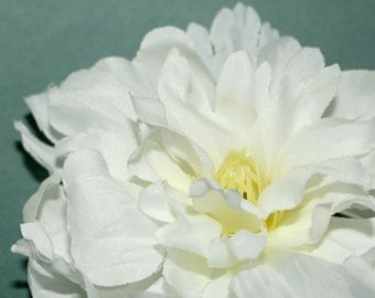 Small White Peony - Artificial Silk Flower