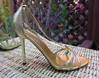 Guess High Heels, Gold Size 8.5