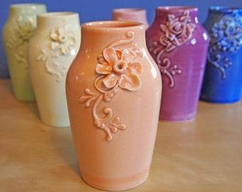 bud vase with daffodil in orange sherbet