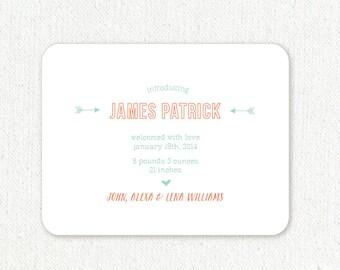 Letterpress Birth Announcements- Letterpress Baby Announcements