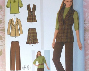 Vest, Skirt, Jacket, Pants, and Top Sewing Pattern UNCUT Simplicity 2520 Sizes 16-24