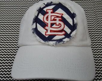 ADULT Baseball Raggy St. Louis Cardinals Chevron Monogrammed Hat