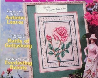 Cross Stitch magazine 1998 Number 48 Like New Autumn floral cute patterns