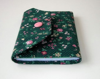 Green and Pink Needle Organizer Wallet - Needle Wallet - Sewing Organizer - Sewing Supply