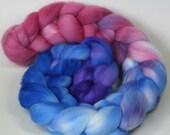 Shellseekers - hand dyed Organic Polwarth wool combed top - 4 oz