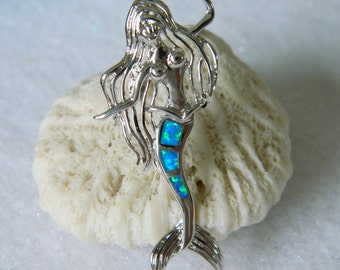 Fire Opal Mermaid Beach Gypsy Necklace