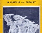 Weldon's Vintage Baby Shawl Knit and Crochet Patterns Instant Digital Download