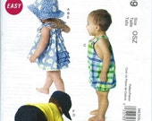 Dress, Panties, Romper, Diaper Cover and Hats Pattern for Infants by McCall's No. 6309 Uncut