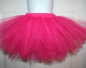 Birthday Hot pink tutu 12m 18m 2t 3t 4t 5t Party costume