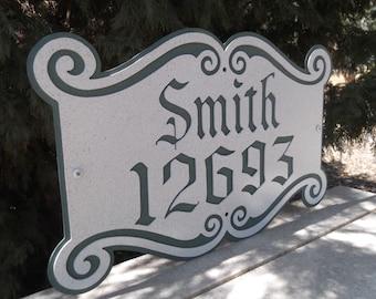 Address Sign, House number, Metal art, Outdoor, Name plate, Plaque, House plaque, Number plaque, Name plaque, Street number, House Address