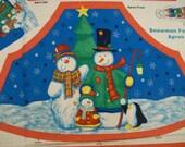 Snowman Festival Apron Panel (322)