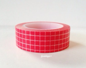 Red Grid Washi Tape Scrapbooking Gift Wrapping Party Decor