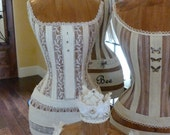 Vintage Inspired Dress Form Mannequin Bridal Shower Decor Cream Off-White Corset Free Ship & Layaway Available