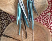Leather Shards in Turquoi...