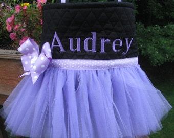 Personalized Purple Ballet Tutu Bag