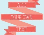 Add Your Own Text to your Greeting Card