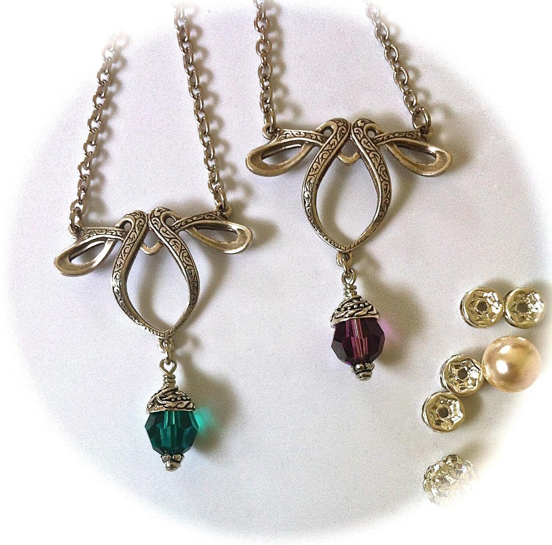 Celtic Bridal Jewelry Elvish Bohemian Wedding Necklace