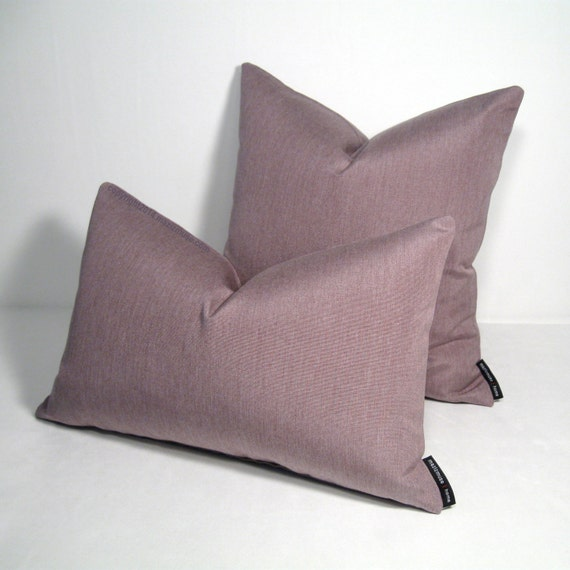 Modern Pillow Covers : Mauve Outdoor Pillow Cover Modern Pillow Mauve by Mazizmuse
