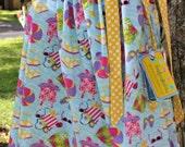 SUMMER CLEARANCE Girls Summer Beach Pool Cover Up Pillowcase Dress