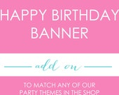 """Printable """"HAPPY BIRTHDAY"""" BANNER - A La Carte - By A Blissful Nest"""