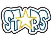 Stars Embroidery Machine Double Applique Design 4203