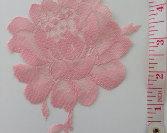 Handmade Pink Lace Flower Appliqué