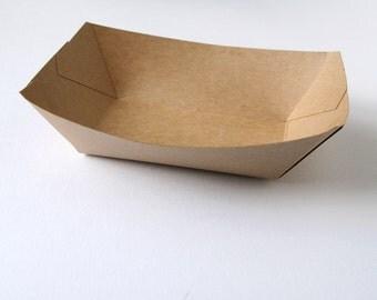 Kraft Paper Food Tray / Kraft Food Boat (set of 20)