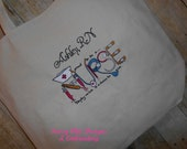 Nurse Tote Bag/Rn/BSN/LPN/Personalized Nurse Tote Bag/Embroidered Nurse Tote Bag/Personalized Tote Bag/Boutique Style Nurse Tote Bag