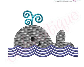 Baby Whale - Instant Email Delivery Download Machine embroidery design