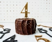 Gold Number Cake Topper Numbers Acrylic First Birthday Party Cake Toppers in Gold